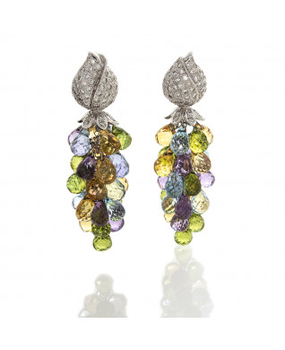 SEMI PRECIOUS BRIOLLETTE EARRINGS