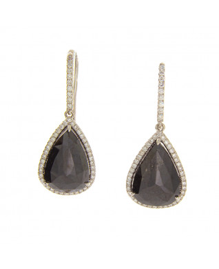 PEAR SHAPE BLACK DIAMONDS 7.58 CT