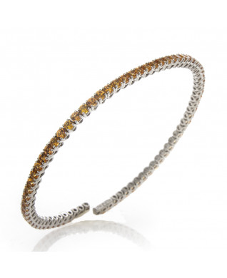 ORANGE SAPPHIRE BANGLE