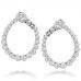 Aerial Regal Diamond Hoop Earrings