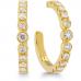 Copley Bezel Hoop Earrings